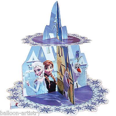 28cm Disney's FROZEN Elsa Anna Snow Queen Party Castle Cupcake Cake Stand