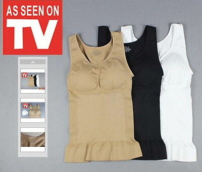Free Extra Set Of Pads L To XL Cami Shaper As Seen On TV With Removable Pads