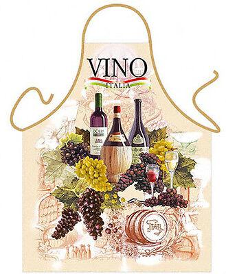 VINO Wine grapes party kitchen apron hostess gifts Italy wine lover tuscan ITATI