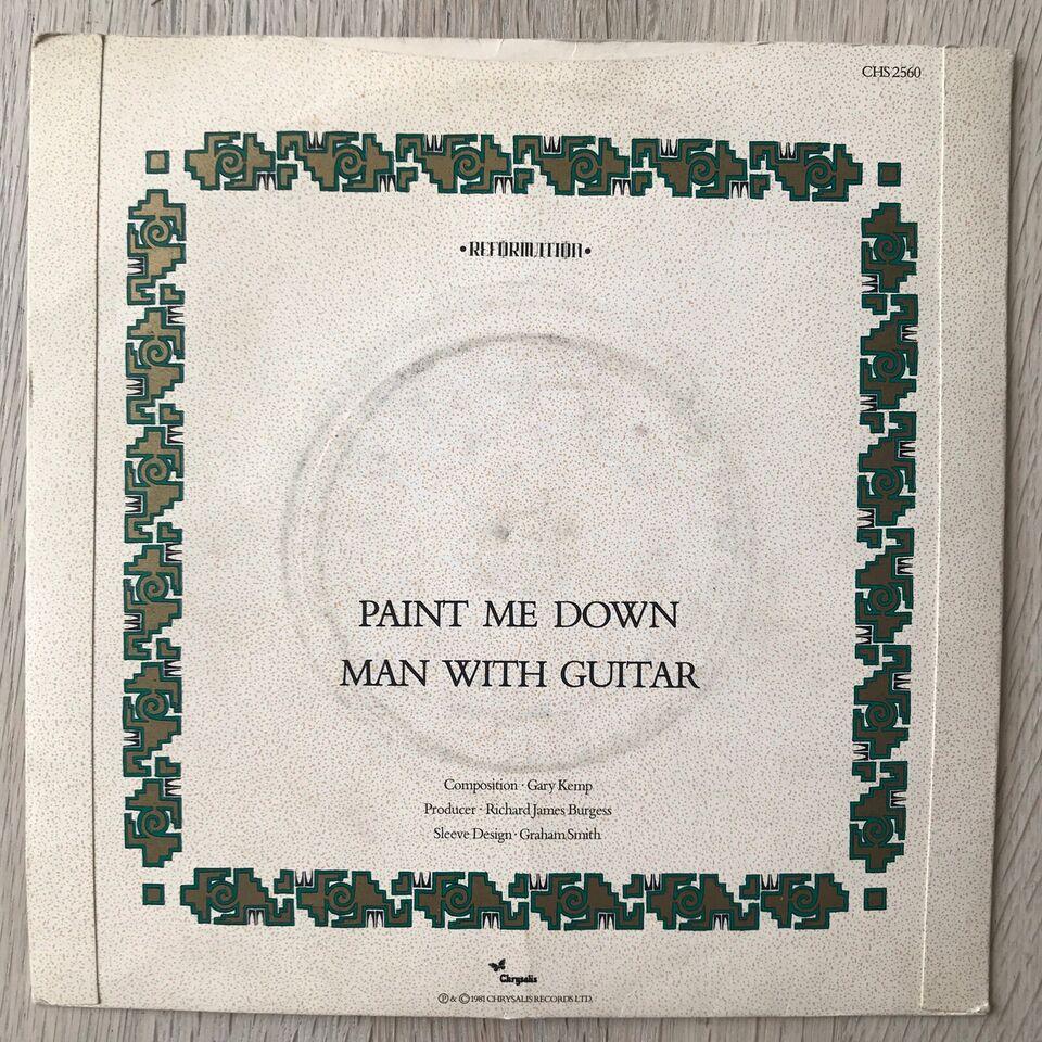 Single, Spandau Ballet, Paint Me Down/Man With Guitar