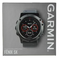 Garmin Fenix 5X Sapphire GPS Watch Mapping Wrist HR - Slate Gray TOPO US Maps