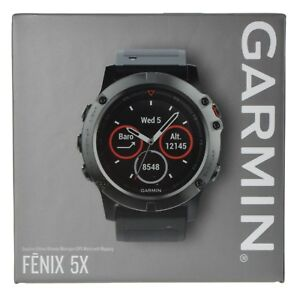 Garmin-Fenix-5X-Sapphire-GPS-Watch-Mapping-Wrist-HR-Slate-Gray-TOPO-US-Maps