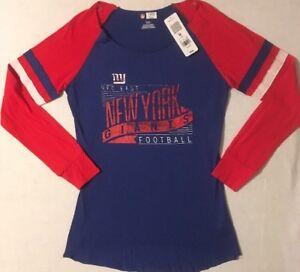 3786e4c6 Details about Vintage Look NFL New York Giants Women's Shirt Lightweight  Long Sleeve Medium