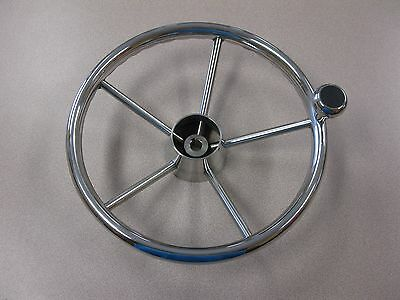 """NEW Stainless Steel Boat Steering Wheel 13/"""" DESTROYER Type FREE SHIPPING"""