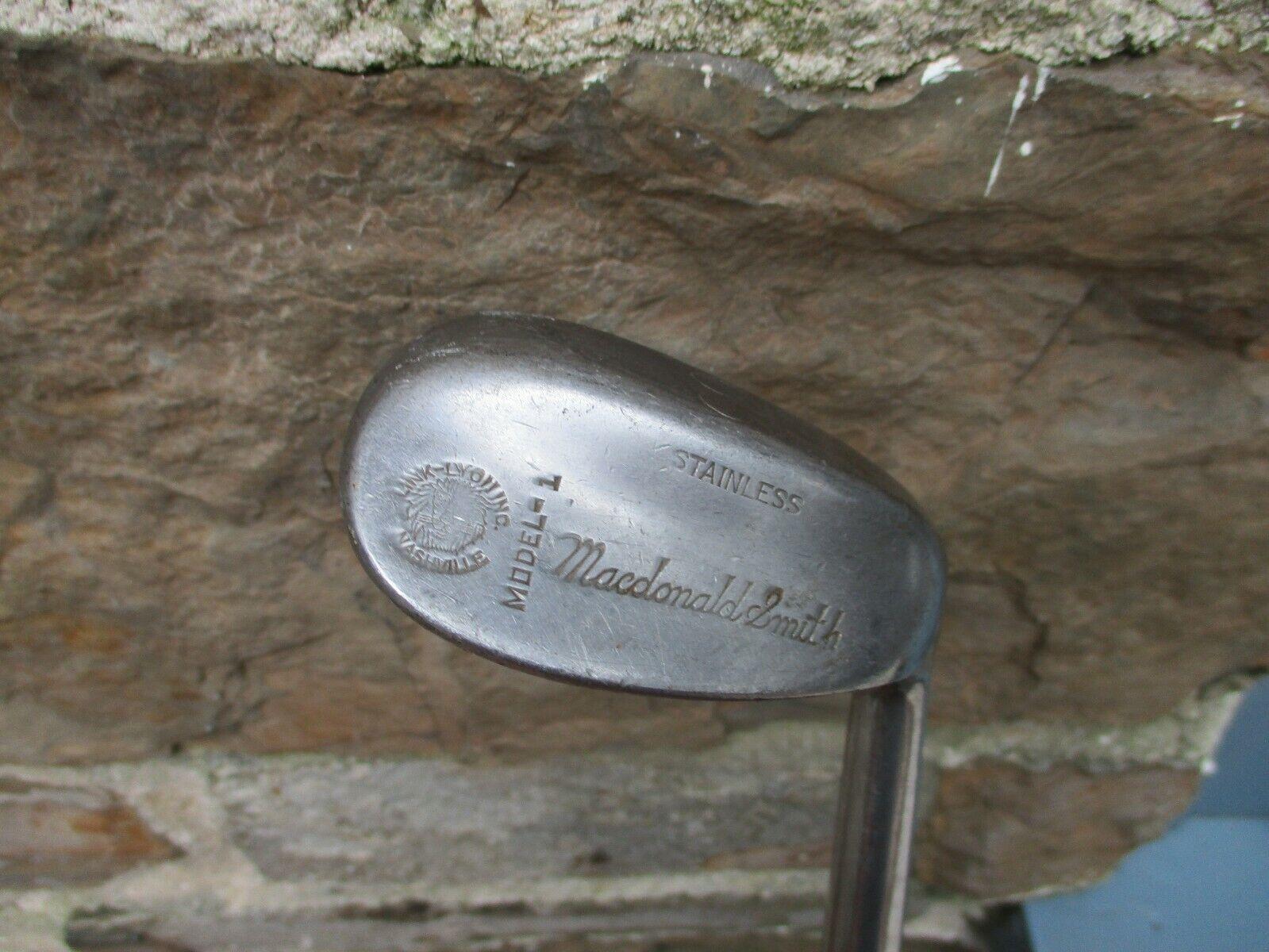 Diestro MacDonald Smith  Link-Lyon hoyuelo Cochea modelo - 1 99 Agarre de cuña de cuero  ganancia cero