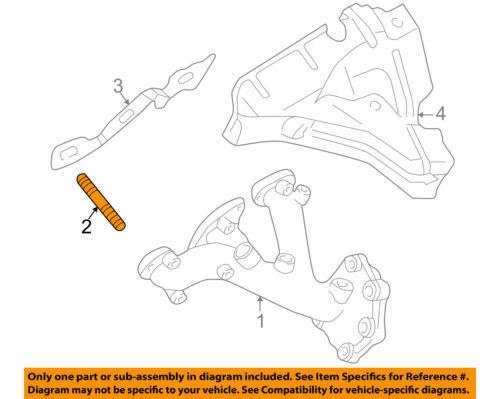 Infiniti NISSAN OEM 98-00 QX4 3.3L-V6 Exhaust Manifold-Manifold Stud 140647B00A