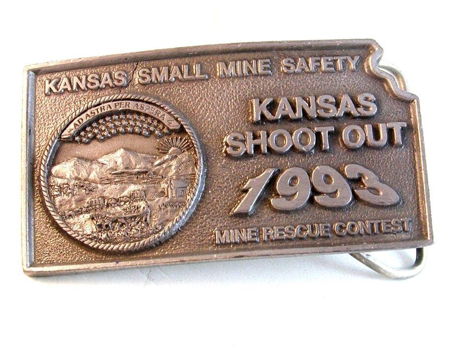 1993 Kansas Klein Mine Sicherheit Shoot Out Gürtel Buckle