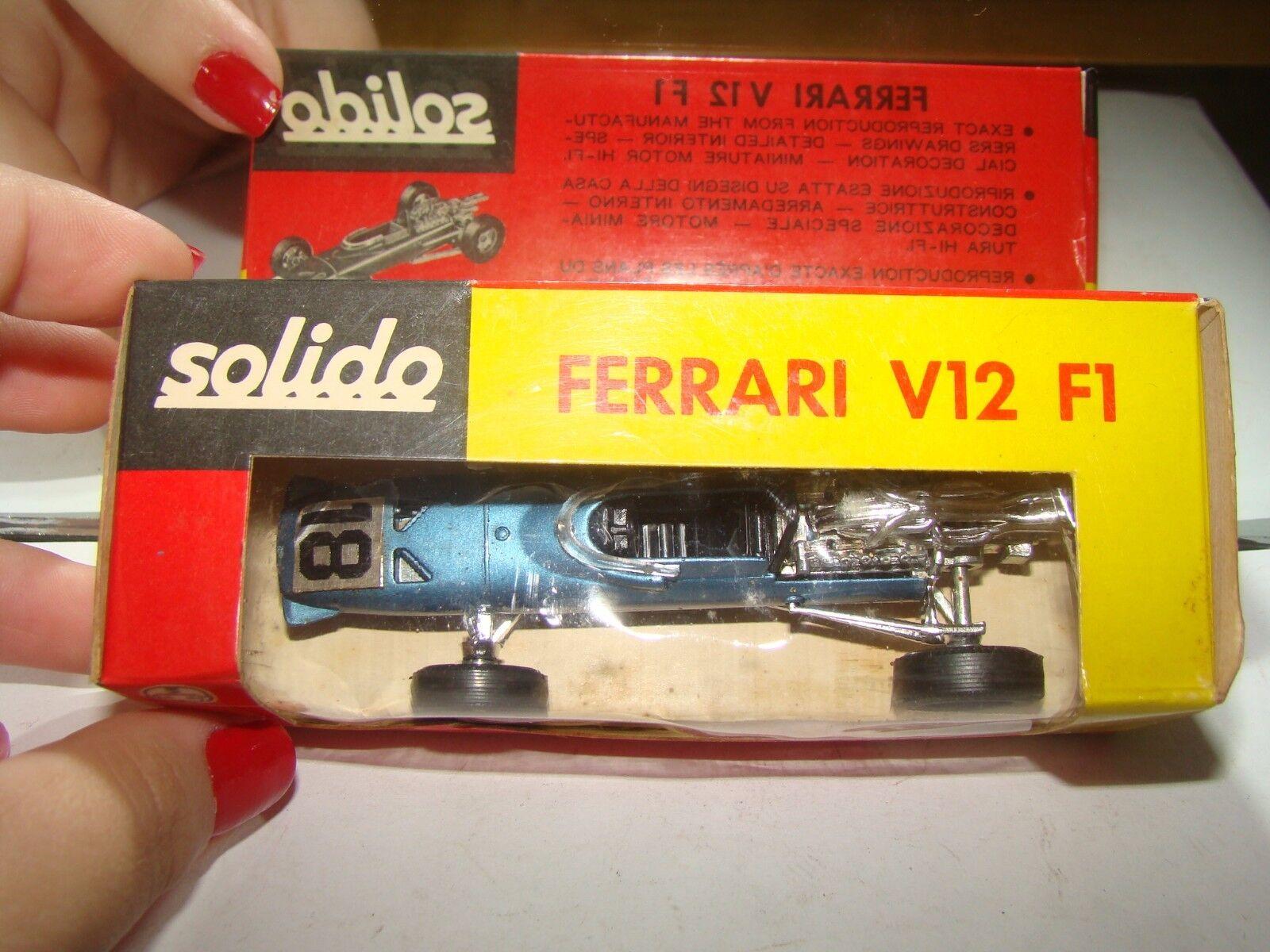 SOLIDO BROSOL BRAZIL 167 FERRARI V12 F1 B958