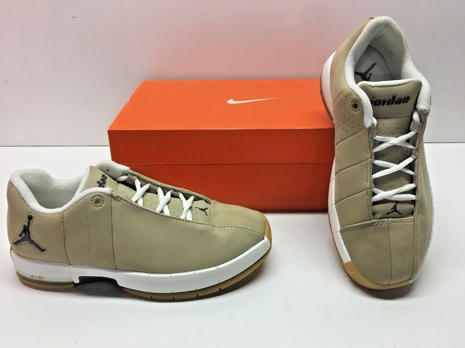 Nike Jordan Team Elite II Low Jumpman Beige Basketball Sneakers shoes Womens 6.5