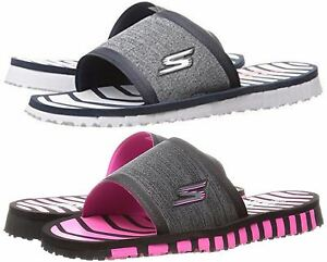 a28b19d96 Image is loading Skechers-Flip-Flops-Performance-Women-039-s-Go-