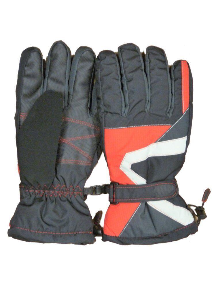 Igloos Mens Black & Red Snow & Ski Gloves Winter Snowboarding