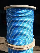 "Dacron Sailboat Rope 7//16/"" x 50/' White//Green NovaTech XLE Halyard Sheet Line"