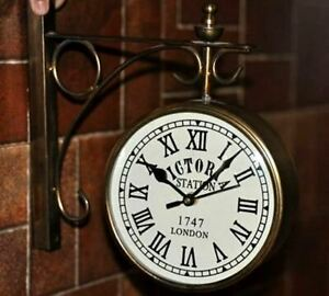 HOME-DECOR-COLLECTIBLE-VICTORIA-STATION-LONDON-1747-DOUBLE-FACE-WALL-CLOCK-WC-01