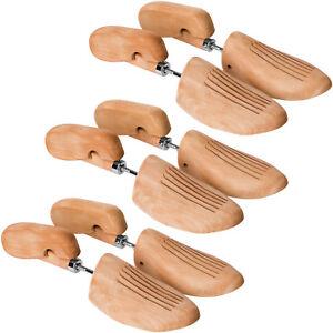 3-Paar-Schuhspanner-Schuhformer-Schuhdehner-Schuhstrecker-Lotusholz-Damen-Herren