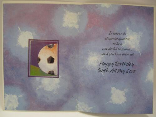 HALLMARK FANTASTIC COLOURFUL No.9 FOOTBALLER HUSBAND BIRTHDAY GREETING CARD