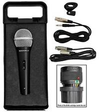 """Rockville RMC XLR High End Metal DJ Handheld Wired Microphone Mic 1/4"""" Cable"""