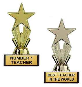 Image Is Loading TEACHERS DAY STAR TROPHY GIFT BEST TEACHER IN