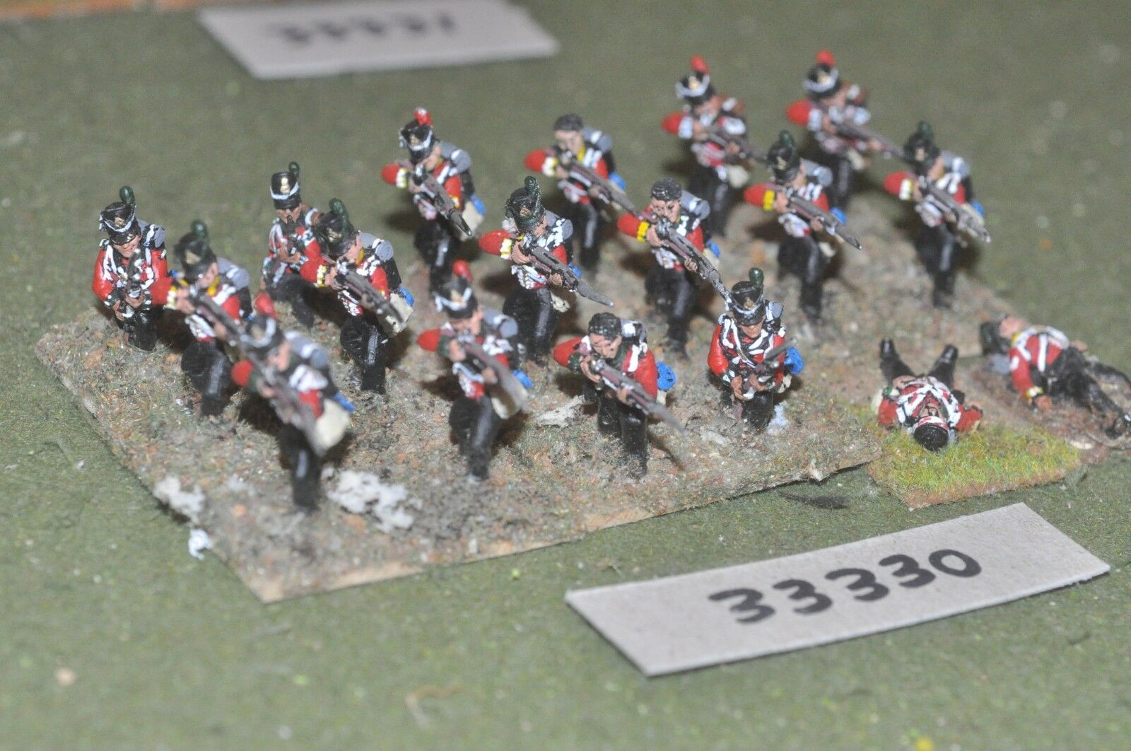 25mm napoleonic   british - light 18 figures - inf (33330)