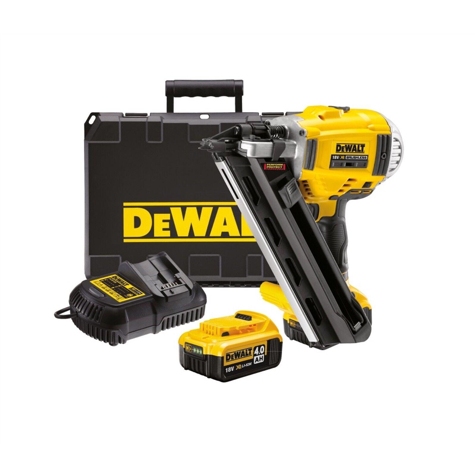 DeWalt 18v Brushless Two Speed Framing Nailer Kit with 2 x 4.0Ah Li-Ion Batterie