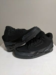 sports shoes d5e31 afbe1 Image is loading Air-Jordan-3-Retro-Black-Cat-FLAWLESS-NO-