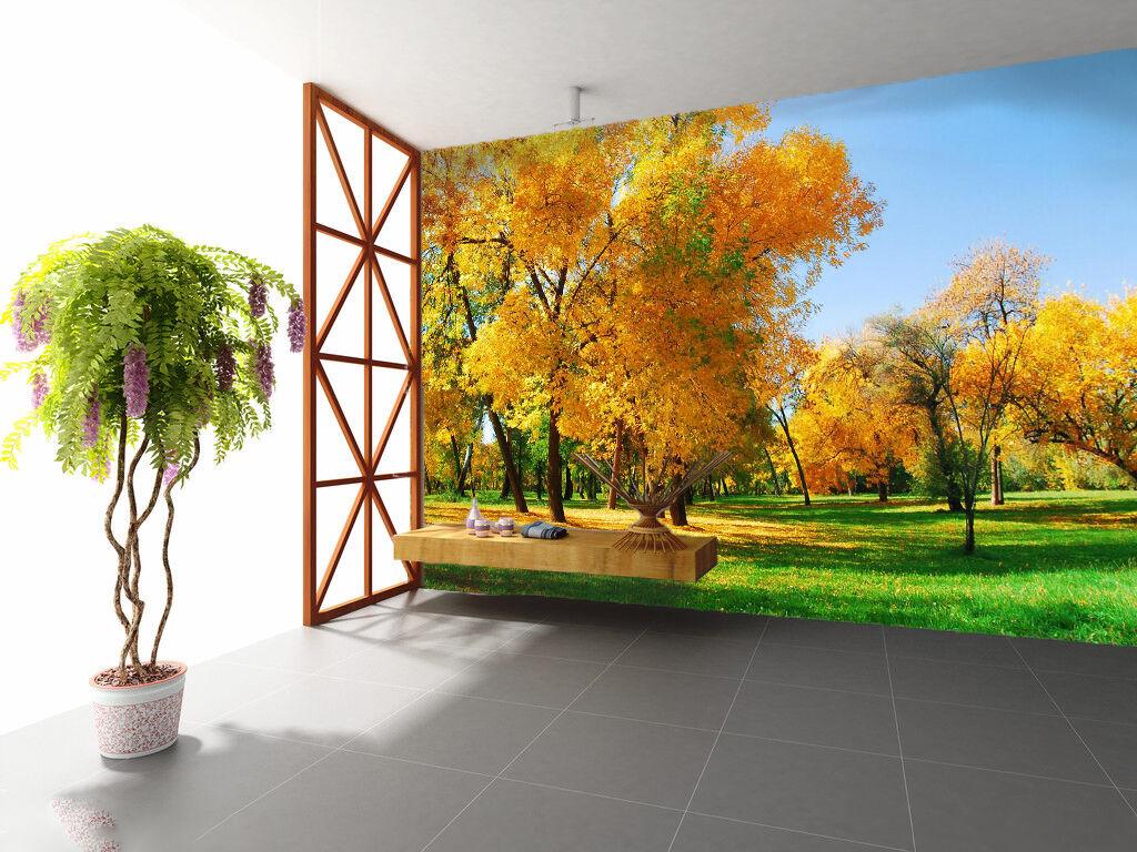 3D Gelb Forest Grassland 5275 Wall Paper Wall Print Decal Wall AJ WALLPAPER CA