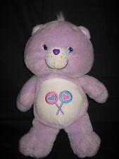 14'' ORIGINAL CARE BEAR PURPLE CANDY LOLLIPOP 2003 PLUSH DOLL STUFFED ANIMAL TOY