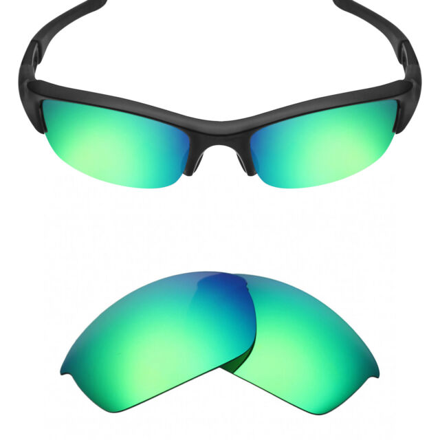 57b799e6bde MRY Polarized Replacement Lenses For-oakley Flak Jacket Sunglasses Emerald  Green