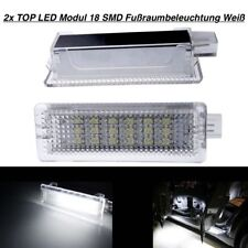 2x TOP LED Modul 18 SMD Fu/ßraumbeleuchtung Wei/ß