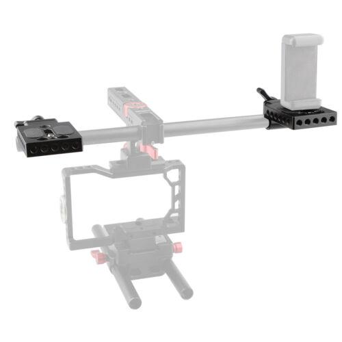 Camvate Mini Soporte de abrazadera de barra de placa de montaje 15mm Para DSLR Rig Monitor EVF Rig