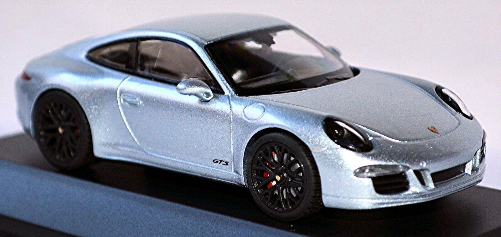 Porsche 991 911 Carrera GTS Coupè Rhodiumargent Metallico 2015 1 43 Schuco