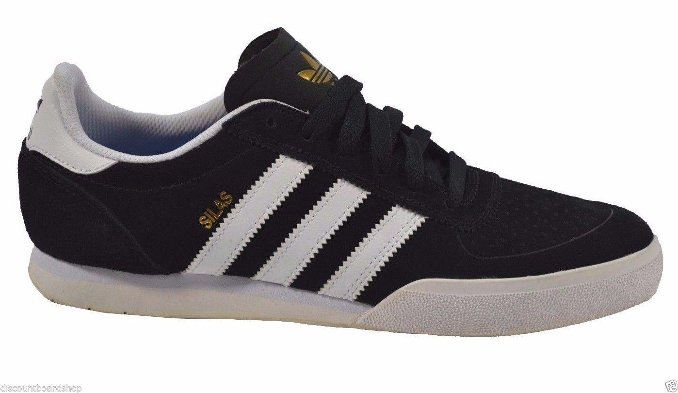 Adidas SILAS SLR Noir Blanc Skateboarding G98074 (240) Homme Chaussures