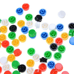 100x-Round-Mixed-Color-Tactile-Button-Caps-Kit-For-12x12x7-3MM-Tact-Switches-UK