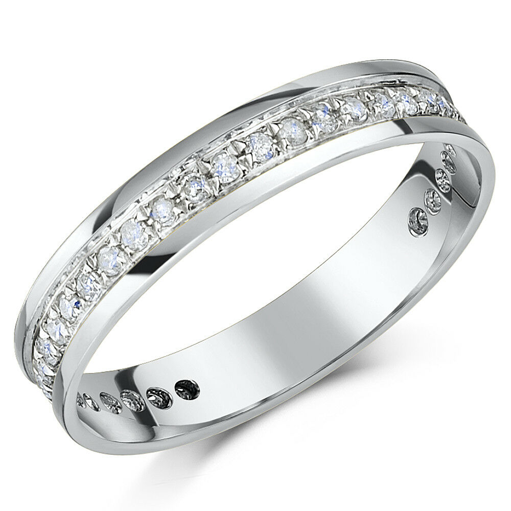 18ct White gold Diamond Half Eternity Rings New Solid & Hallmarked 18 Carat