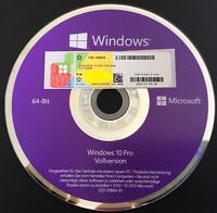 Windows 10 Professional COA Lizenzkey & Installation DVD 64 Bit Deutsch, OEM