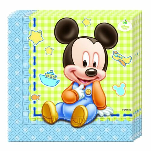 Servietten Micky Baby20 StückMickey MouseKinder Geburtstag