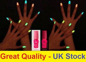 Details about Pink Glow in the Dark Nail Polish Varnish UV Translucent Neon  Fluorescent Party
