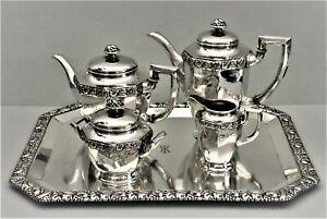 Antiker-Kaffeekern-Teekern-Tablett-Bruckmann-Monogramm-TK-800er-Silber-P109