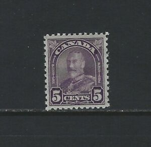 CANADA-169-5c-KING-GEORGE-V-ARCH-LEAF-ISSUE-MINT-STAMP-MNH