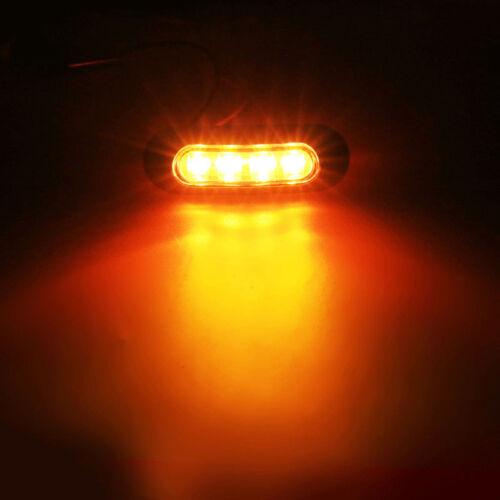 10 x Amber LED Side Marker Indicator Light Lamp for Caravan Truck Trailer Lorry