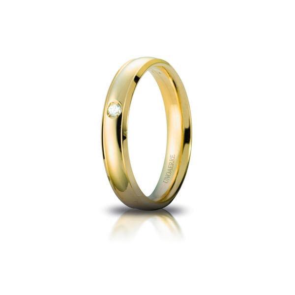 Faith Orion yellow gold with diamond - Unoaerre