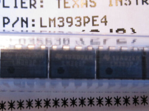 Quantity 10 LM393PE4 Texas Instruments Dual Differential Comparators 8-Pin Dip
