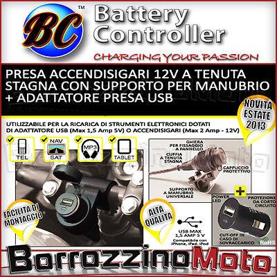 FuYouTa Accendisigari per Moto Accendisigari Adattatore per accendisigari con Spina Europea per Spina di Alimentazione per Motocicletta per Auto 12V