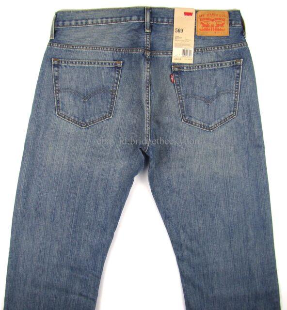 cff8a3c9385 Levi's Blue Mens Size 34x30 569 Loose Straight Fit Denim Jeans 531 ...