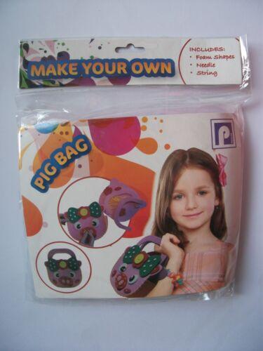 Faites votre propre sac à coudre enfants Craft Activité cochon Fraise Sew