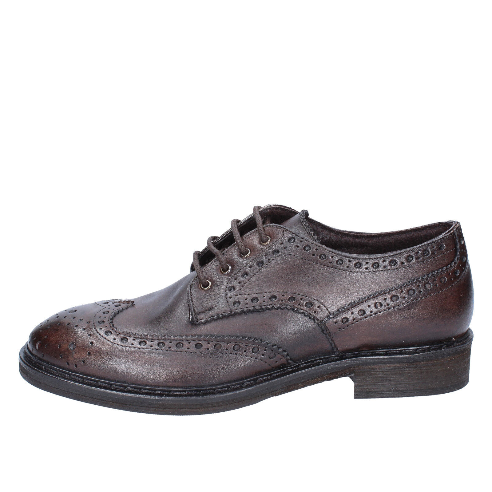 scarpe uomo CESARE MAURIZI pelle 41 EU classiche marrone pelle MAURIZI BX505-41 c08d60