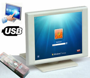 "38 Cm 15"" Usb écran Tactile 1024x768 écran Pv760t Windows 2000 Xp 7 8 Pieds #3f+he-afficher Le Titre D'origine Dessins Attrayants;"