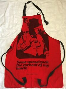 W-C-Fields-Apron-Grilling-Kitchen-Vintage-034-Some-Weasel-Took-the-Cork-034