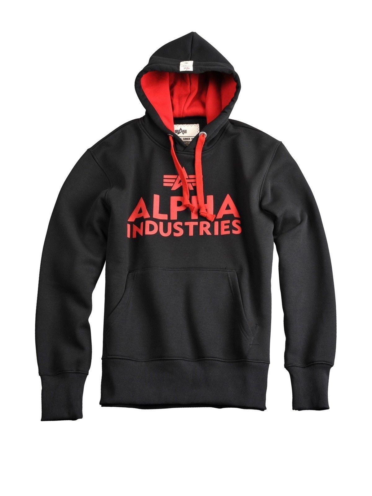Alpha Industries Kapuzenpullover Foam Print Hoodie Schwarz 143302 03  5330