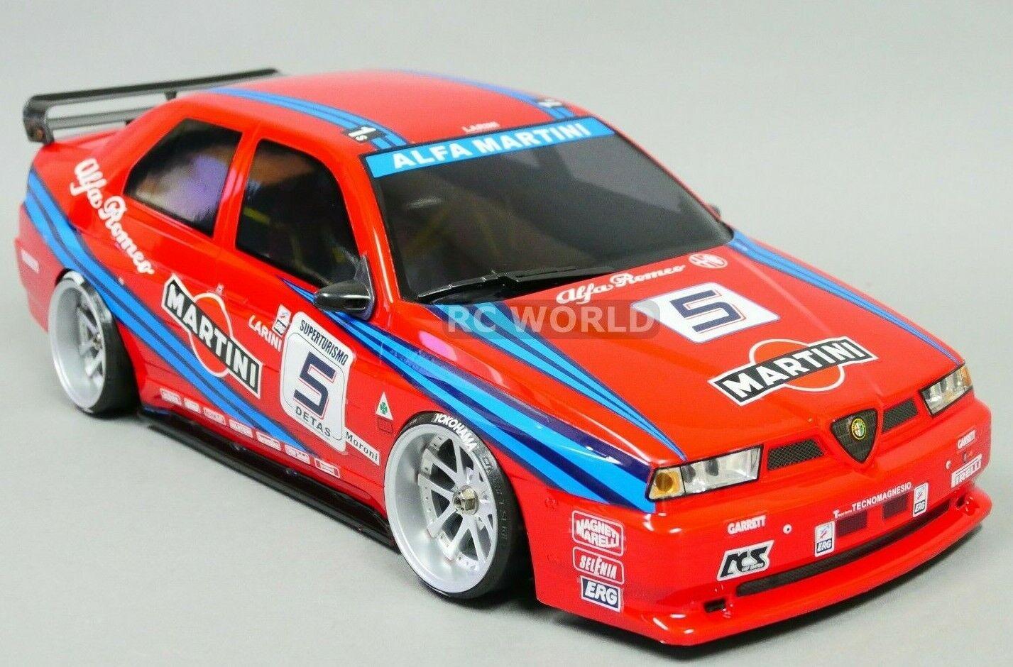 1 10 RC auto corpo Shell  ALFA ROMEO 155 GTA Martini 190mm finito  48473  sconti e altro