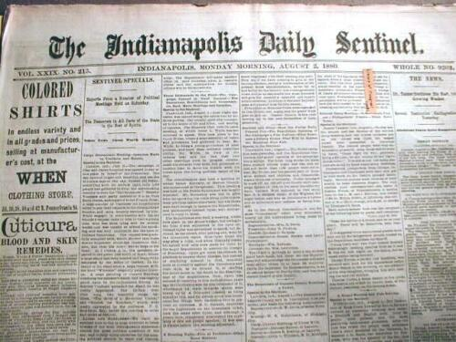 Large wholesale lot of 100 original US newspapers dated between 1820 /& 1889